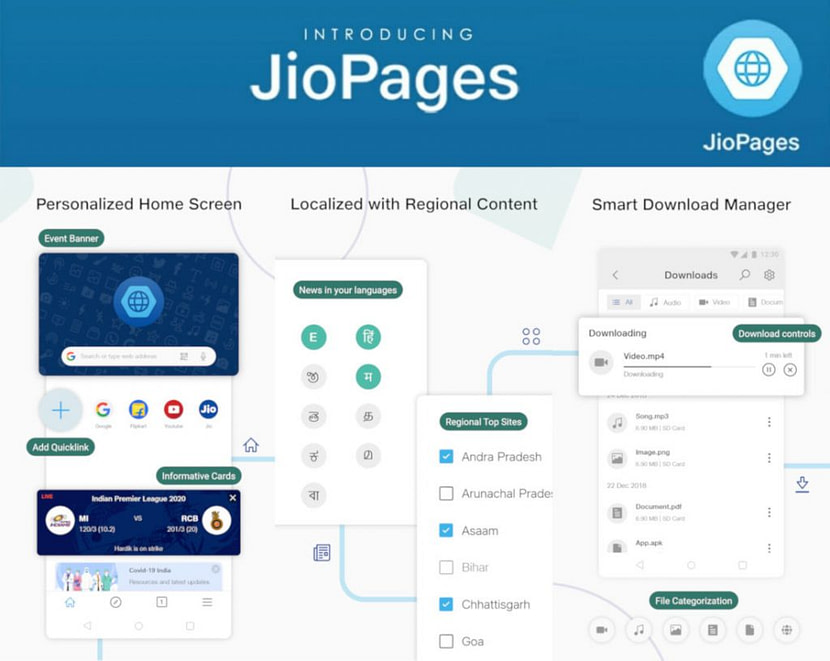 Reliance Jio launches JioPages Chromium-based browser with Encryption, Personalised Content